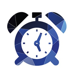 alarm clock icon Abstract Triangle vector image