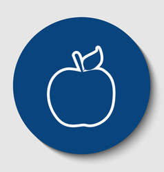 Apple sign white contour vector