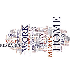 At home jobs for stay at home moms text vector