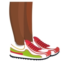 Athletes feet running isolated vector image