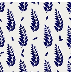 Ball pen seamless pattern with branches vector image