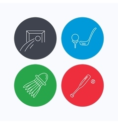 Baseball football and golf icons vector image
