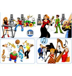best musicians vector image