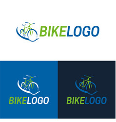 bike icon and logo vector image