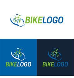 Bike icon and logo vector