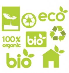 Bio icons vector