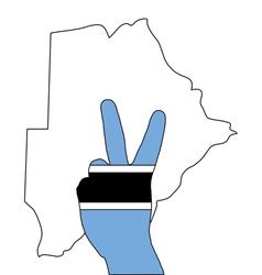 Botswana hand signal vector image