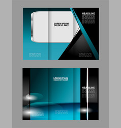 brochure design template trifold geometric vector image