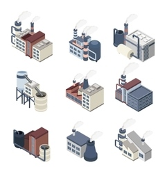 Building Industry Isometric vector image