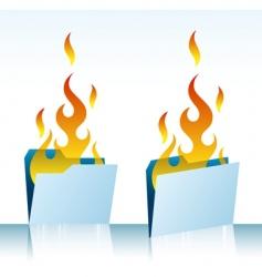 Burning folders vector