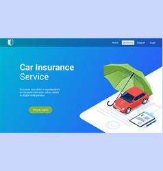 Car insurance 3d template vector