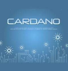 Cardano bitcoin background collection stock vector