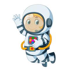Cartoon astronaut floating vector