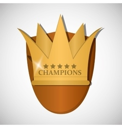 Champion design winner icon Colorful vector image