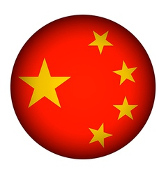 China flag button vector image