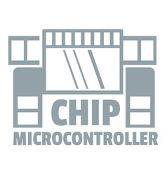 chip microcontroller logo simple gray style vector image