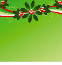 Christmas flourish background vector image
