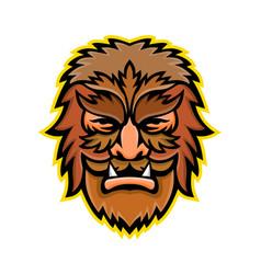 Circus wolfman or wolfboy mascot vector