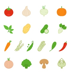 Color icon set - vegetable vector image