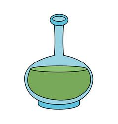 Color image cartoon transparent bottle essential vector
