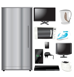 Common household appliances vector