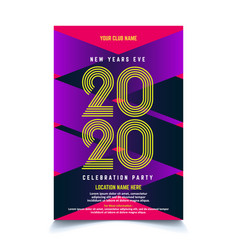 cool gradient new year poster template vector image