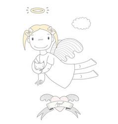 Cute angel vector