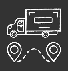 Delivery truck chalk icon cargo shipping lorry vector