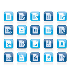 Different types of document icons vector