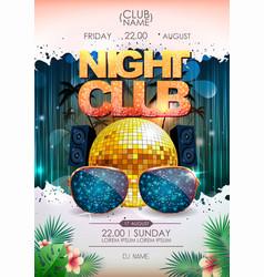 Disco background disco ball summer party poster vector