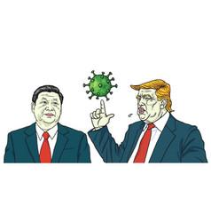 donald trump and xi jinping discussed coronavirus vector image