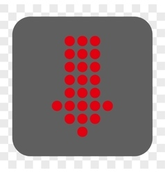 Dotted arrow down rounded square button vector
