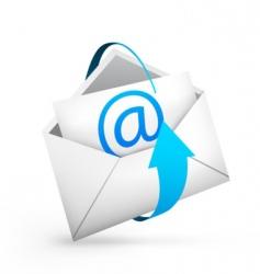 envelope arrow vector image