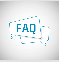 Faq icon frequently asked question as blue speech vector