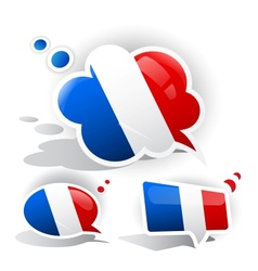 Flag of the France Speech bubble vector