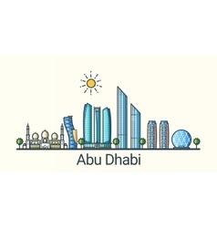 Flat line Abu Dhabi banner vector
