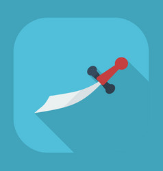 flat modern design with shadow icons dagger vector image