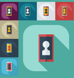 Flat modern design with shadow icons phone vector