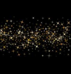 Gold star dust sparkle background vector