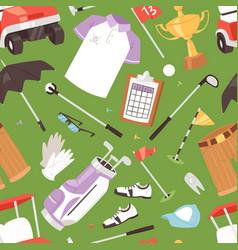 golf golfers sportswear and golfball vector image