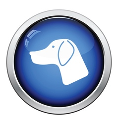 Hunting dog had icon vector