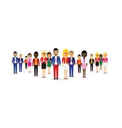 large group of different people in a team vector image
