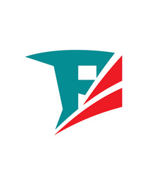 letter f - business logo template concept vector image