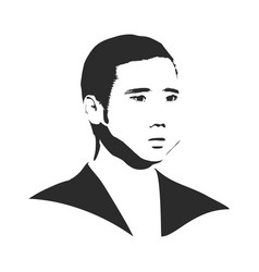 man avatar front view vector image