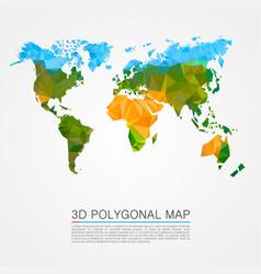 Map 3d polygon vector