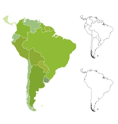 map south america vector image