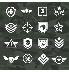 Military symbol icons and logos special forces vector
