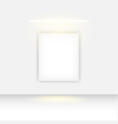 Mockup single poster banner design template vector