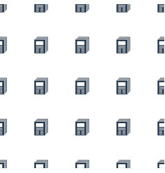 Newspaper icon pattern seamless white background vector