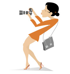 Photographer young woman vector
